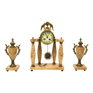 Napoleon III Mantle Clock Garniture- Set of 3
