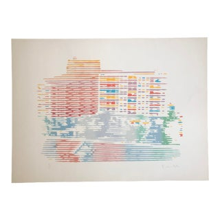 """""""Architecture"""" Pop Art Serigraph by Roger Benedetti, 1987 For Sale"""