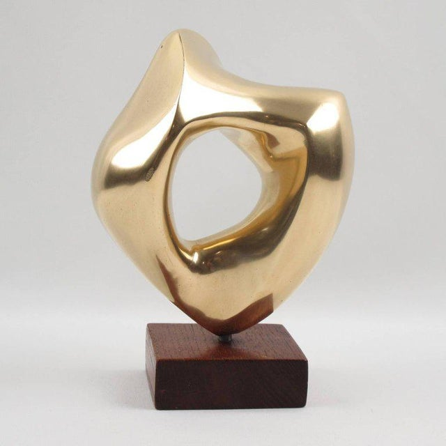 G. Morleghem Belgium 1950s Bronze Abstract Organic Sculpture - Image 4 of 8