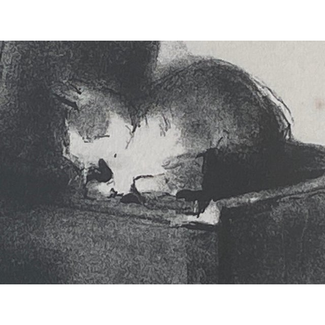 """Pencil Vintage Margery Austin Ryerson """"Child With Cat at the Piano"""" Lithograph For Sale - Image 7 of 10"""