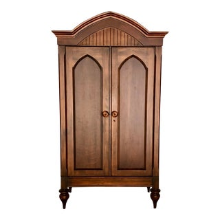 Jim Peed for Romweber Rustic Hardwood Armoire For Sale