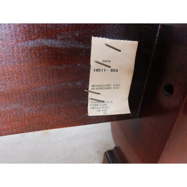Features Fine Quality Solid Construction - Carved Posters, Flame Mahogany Headboard Very Good Pre Owned Condition,...