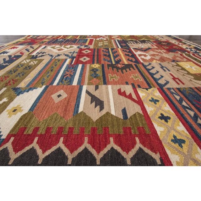 "Modern Apadana - Modern Kilim Rug, 8'5"" x 9'9"" For Sale - Image 3 of 6"