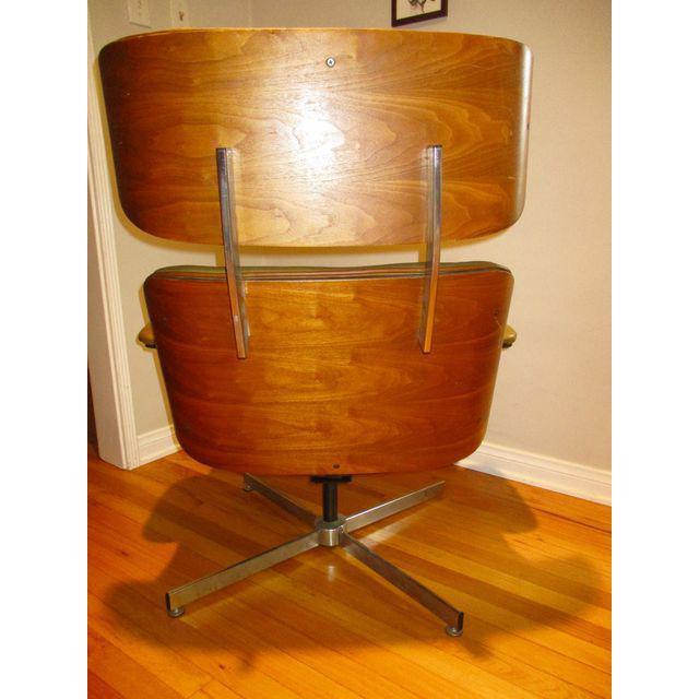 Frank Doerner Mid-Century Modern Chair & Ottoman Set Selig Plycraft Style - Image 11 of 11
