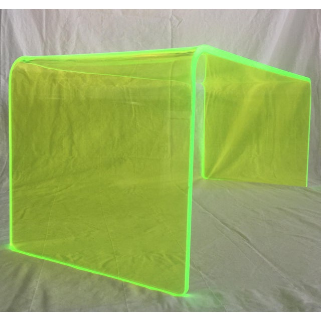 "2010s ""The Long Game"" Coffee Table in Neon Green For Sale - Image 5 of 11"
