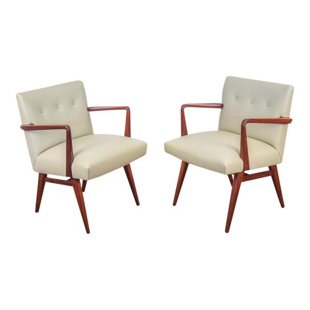 Jens Risom Model 108 Walnut Side Chairs - Image 1 of 11