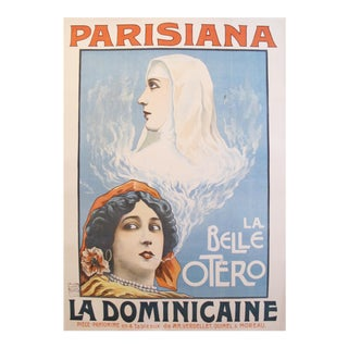 1903 French Art Nouveau Theatre Poster, Parisiana La Dominicaine For Sale