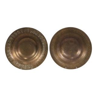Vintage Tiffany Studios Dore Bronze Bowls #1707 - a Pair For Sale