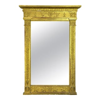 Neoclassical French First Empire Gilt Mirror, Early 19th Century For Sale