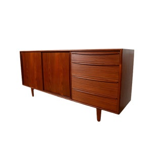 Svend Madsen Falster Danish Modern Teak Credenza Sideboard For Sale