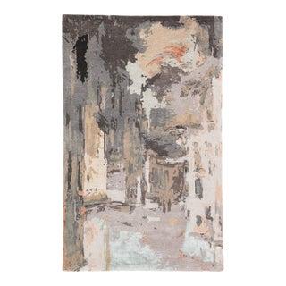 Jaipur Living Luella Handmade Abstract Gray Blush Area Rug 8'X11' For Sale