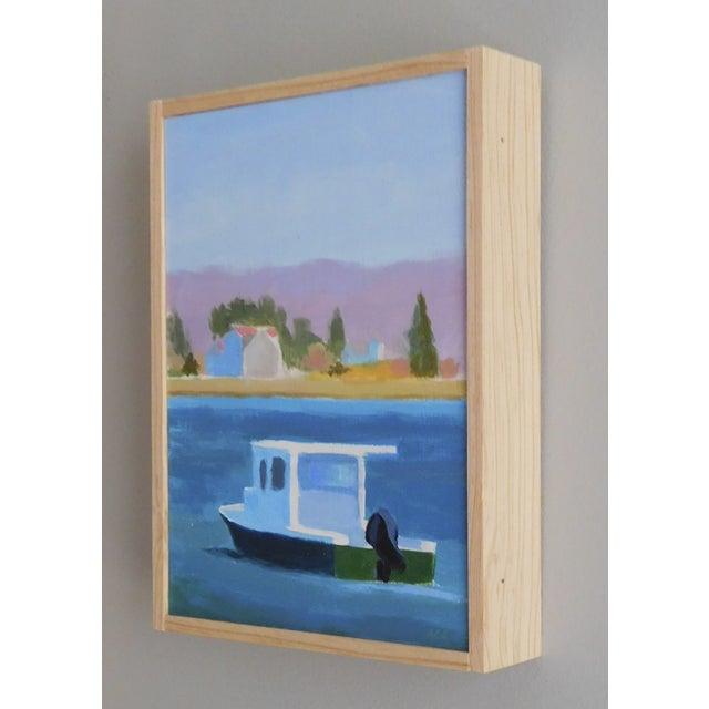"""Harbor"" Original Acrylic Painting on Panel - Image 4 of 4"