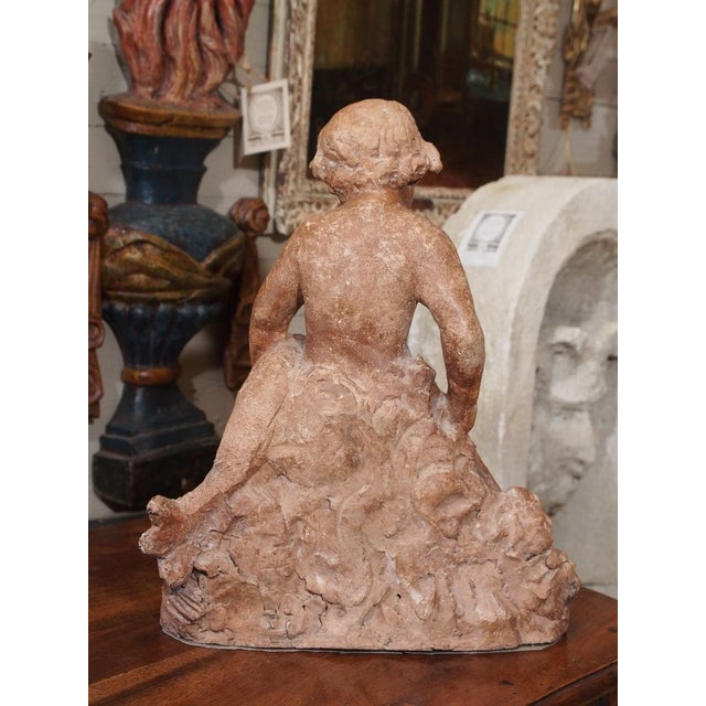 19th Century French Cherub Sculpture For Sale - Image 4 of 7