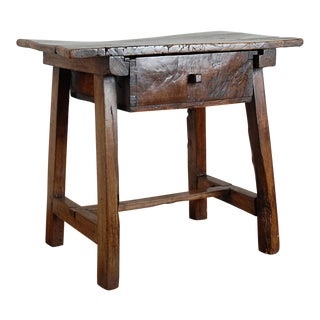 Antique 18th Century Spanish Walnut Side Table For Sale