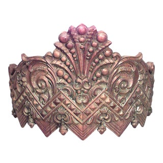Carousel Style Carved Wooden Valance For Sale