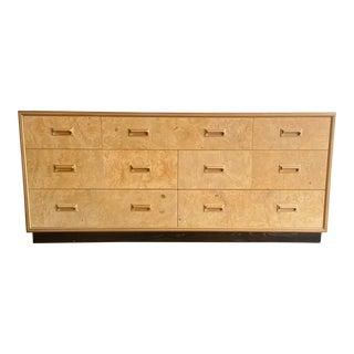 Henredon Scene Two Burl Wood Lowboy Dresser For Sale