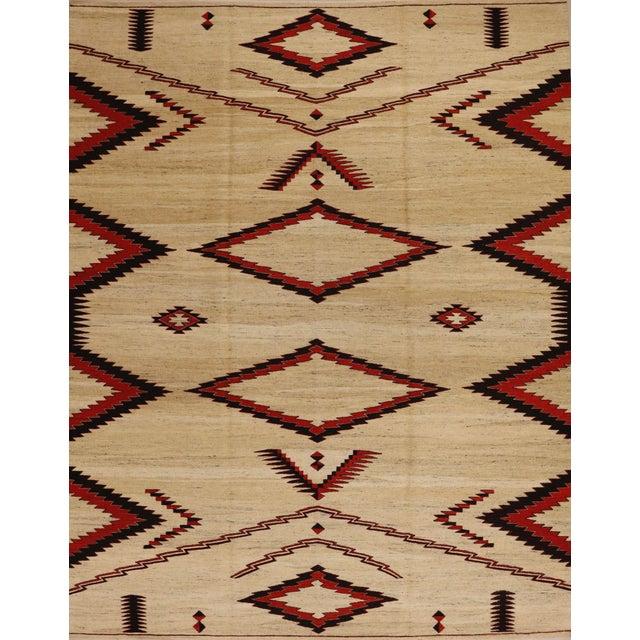 Boho Chic 1990s Vintage Southwestern Flatweave Rug - 8′ × 10′2″ For Sale - Image 3 of 3