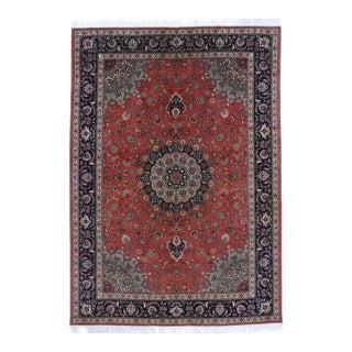 Vintage Persian Tabriz Rug - 08'03 X 11'08 For Sale