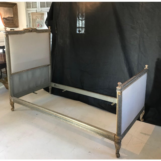 19th Century Louis XV Gray and Gilded Twin Bedframe For Sale - Image 13 of 13