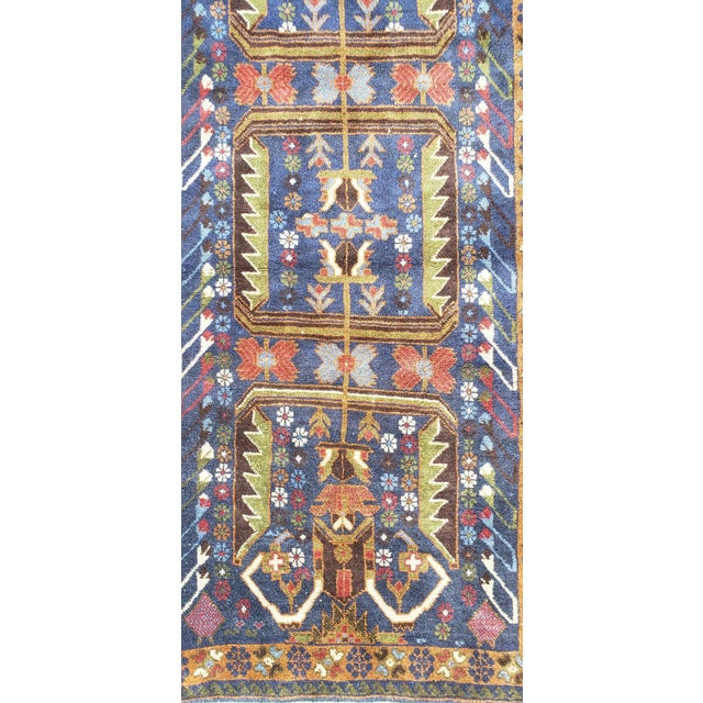 "Afghan Geometric Multi-Color Runner-3'x9'6"" For Sale In Orlando - Image 6 of 7"