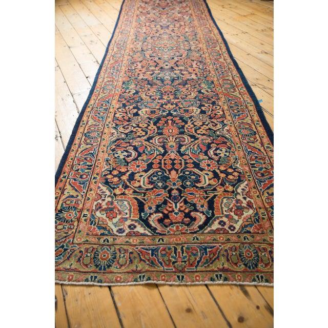 """Textile Vintage Sarouk Rug Runner - 3'7"""" X 13' For Sale - Image 7 of 13"""