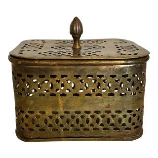 Vintage Mid-Century Brass Cricket Box