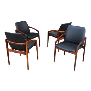 Set of 4 Kai Kristiansen Side Chairs or Arm Chairs For Sale