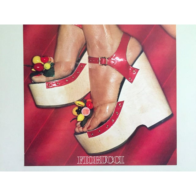 """Postmodern Fiorucci Rare Original Vintage 1978 """" High Heels """" New Wave Italian Fashion Collector's Lithograph Print Pop Art Poster For Sale - Image 3 of 13"""