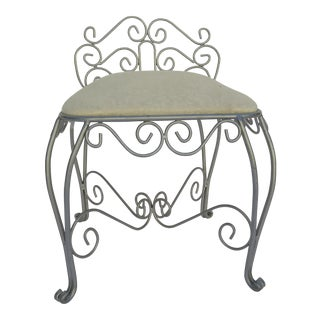 Wrought Iron Vanity Chair For Sale