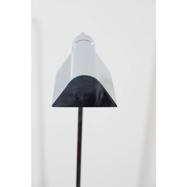 1970s Casella Adjustable Reading Floor Lamp in Chrome For Sale - Image 5 of 8