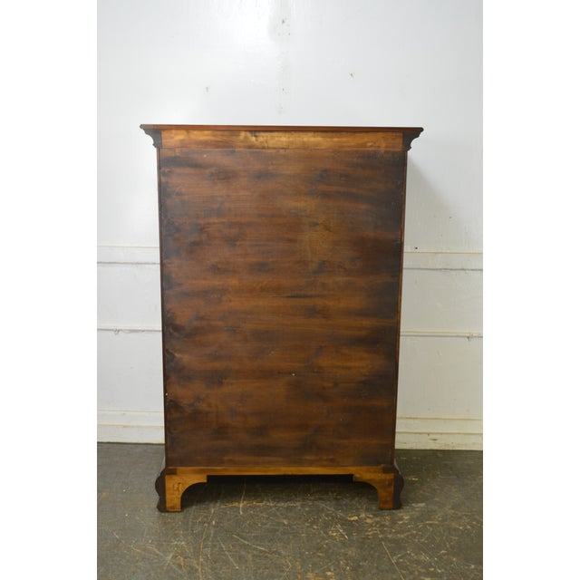 Harden Chippendale Style Solid Cherry Tall Chest For Sale In Philadelphia - Image 6 of 13