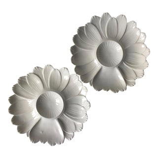 2 Vintage Italian Creamware Artichoke Plates For Sale