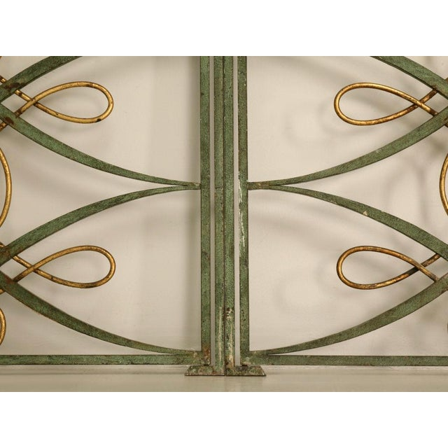 Original Vintage French Iron and Steel Gates/Fire Screens - a pair For Sale In Chicago - Image 6 of 10