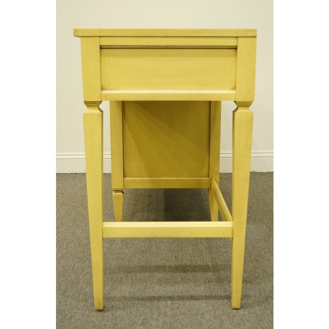 Cream 20th Century French Provincial Basic Witz Furniture Painted Cream Writing Desk For Sale - Image 8 of 13