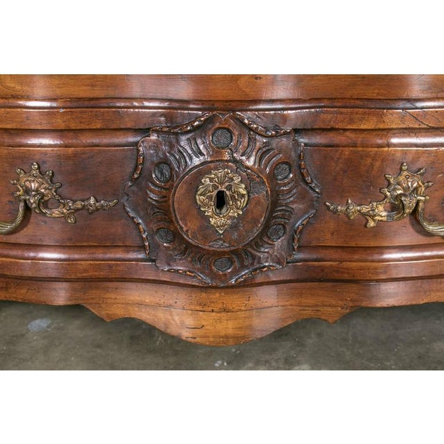 Gold 18th Century Regency Period Lyonnaise Commode Galbée For Sale - Image 8 of 10