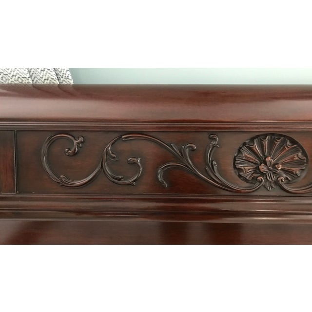 Chippendale Henkel Harris Mahogany King Sleigh Bed For Sale In Boston - Image 6 of 13