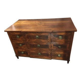 Louis XVI Period Walnut Chest of Drawers With Inlay For Sale
