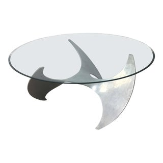 Mid-Century Modern Aluminum Propeller Coffee Table