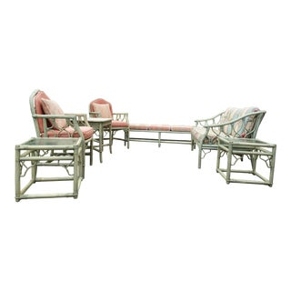 Ficks Reed 7 Piece Set Rattan Furniture. For Sale
