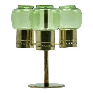 1950s Hans-Agne Jakobsson Brass Candleholder For Sale