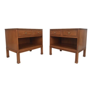 Mid-Century Modern Nightstands by Davis Cabinet Co. For Sale