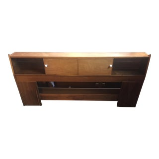 1959 Mid-Century Modern Drexel Declaration Walnut King Headboard For Sale