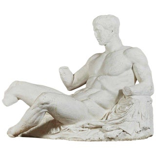 British Museum Plaster Cast of Young Dionysus From East Pediment of Parthenon For Sale