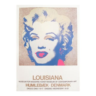 1986 Marilyn Monroe Pop Art Poster by Andy Warhol For Sale