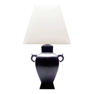 Lawrence & Scott Sakana Japanese Brass Table Lamp For Sale