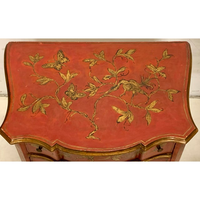 Italian Hand Painted Chinoiserie Chest For Sale - Image 10 of 13
