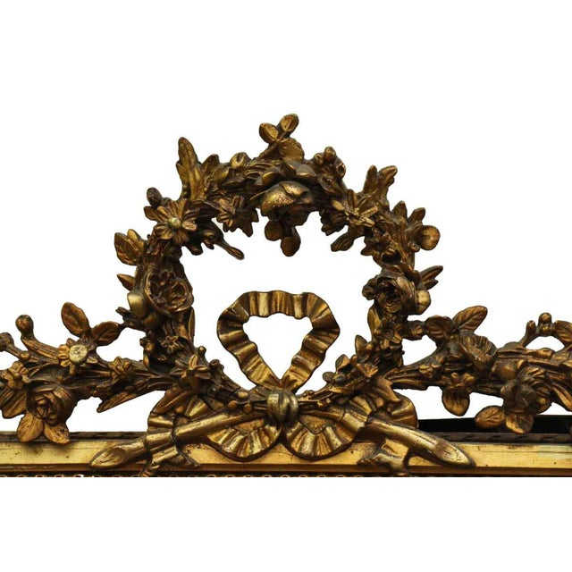 French Victorian Carved Gilt Wood Mirror For Sale - Image 4 of 9