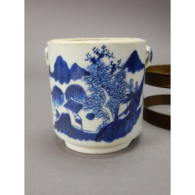 Antique Chinese Blue & White Tea/Tobacco Jar For Sale - Image 6 of 11