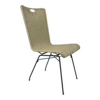 Salterini Wicker and Iron Side Chair For Sale
