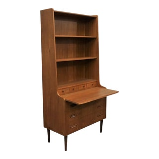 Danish Mid Century Bookcase / Secretary Desk - Kohave For Sale